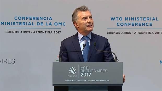 """El presidente Mauricio Macri inauguró la conferencia de la OMC: """"La nueva etapa de la Argentina despierta mucho entusiasmo"""""""