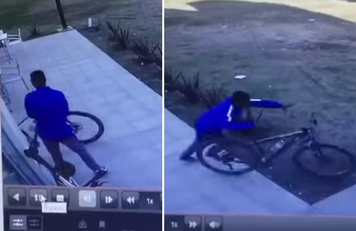 Inseguridad y delincuencia incontrolables: Robaron una bici en una YPF de la avenida Perón(VIDEO)