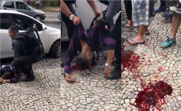 """En Brasil vuelve la mano dura : Un policía mató a un ladrón y lo celebran al grito de """"¡Viva Bolsonaro!"""""""