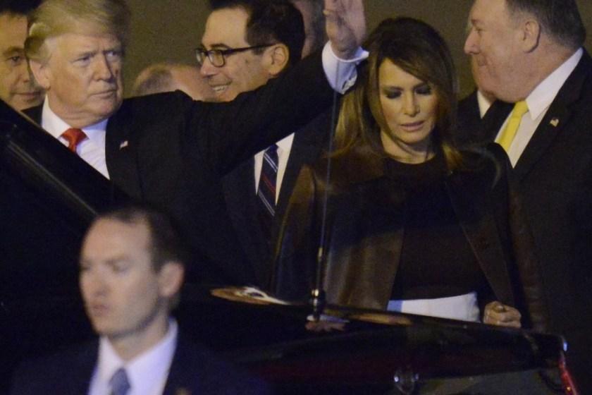 Trump  ya esta en Argentina