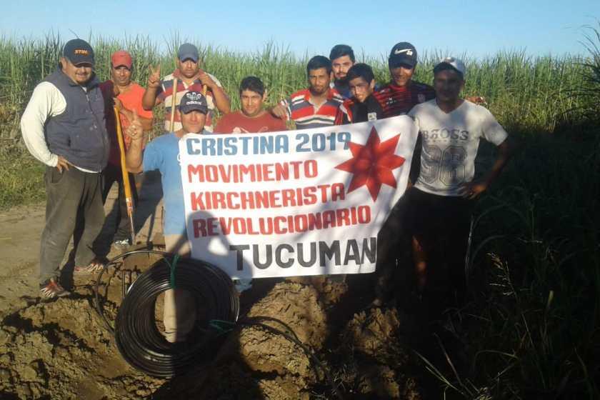 Militantes Kirchneristas colocan 1.500 mts de caños y llevan agua potable a cientos de familias