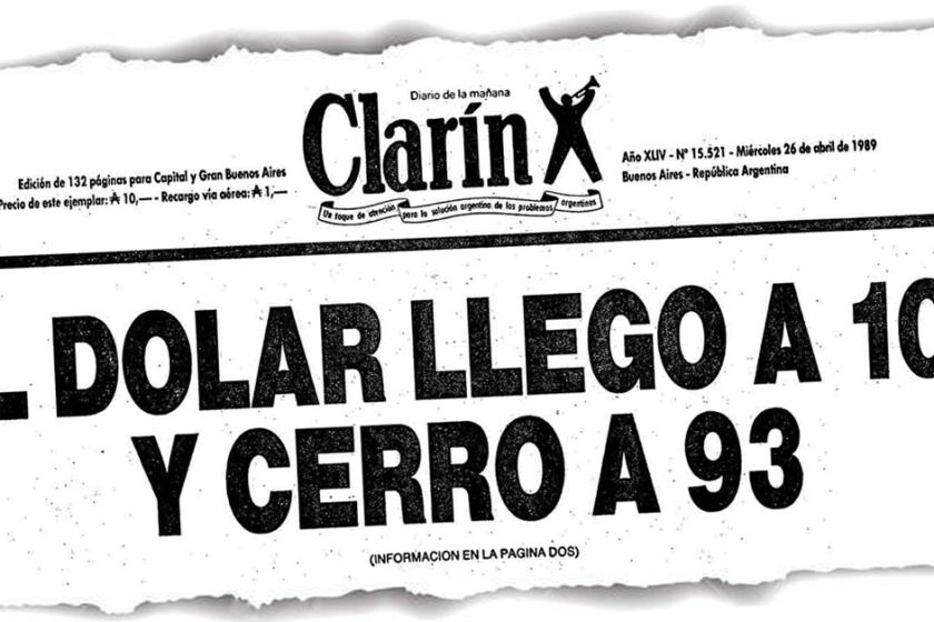 DOCUMENTO HISTORICO: Hiperinflación argentina de 1989 y 1990