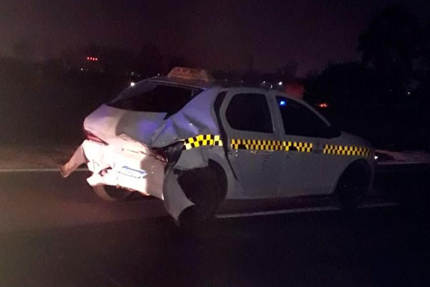 INSEGURIDAD VIAL : Chocaron un taxi y un vehículo particular en la ruta 9, fue vergonzoso el accionar policial