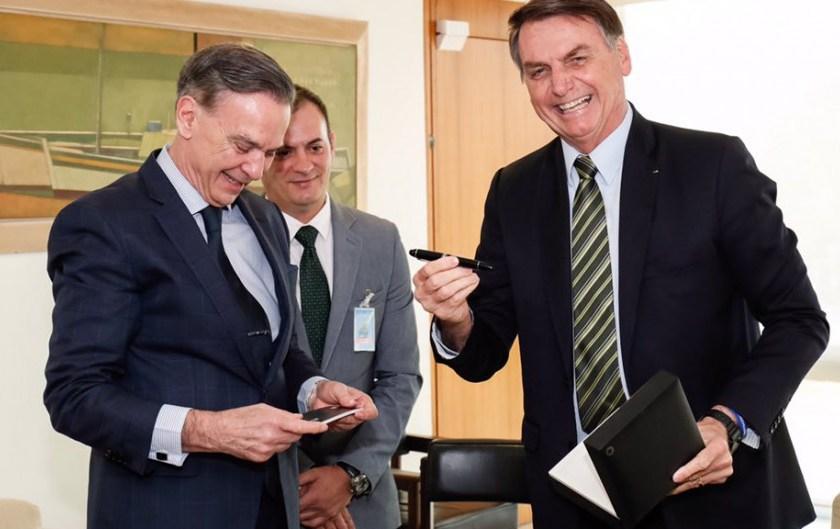 El candidato a vicepresidente Pichetto se reunió con Bolsonaro y lo consideró un hombre clave para el Mercosur