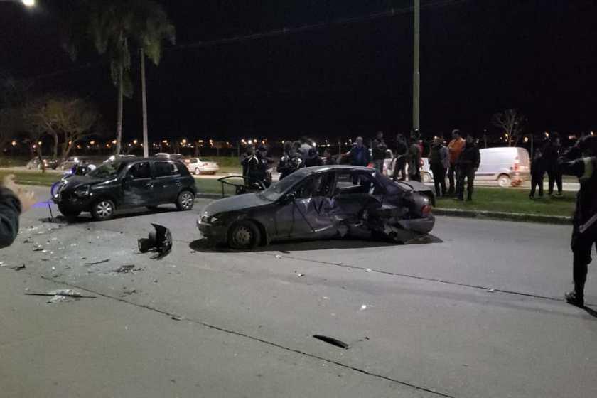 Accidente en avenida Presidente Perón