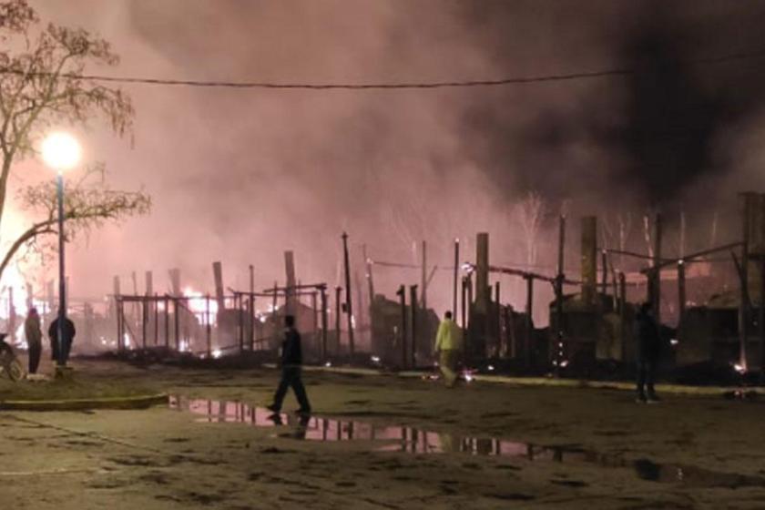 Se quemaron los ranchos en la Feria de Simoca (VIDEO)