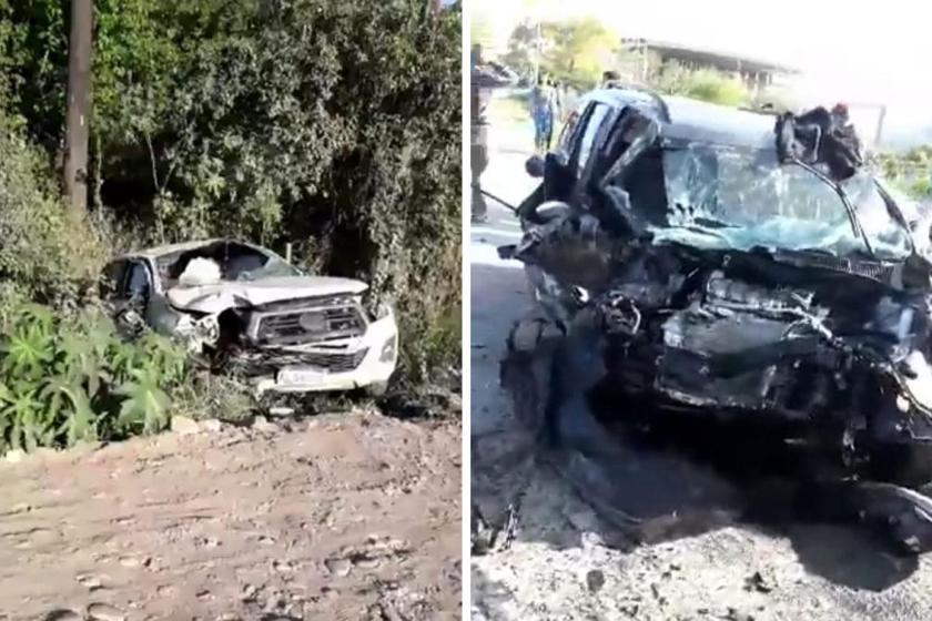 Impresionante choque frontal dejó tres heridos en San Pablo