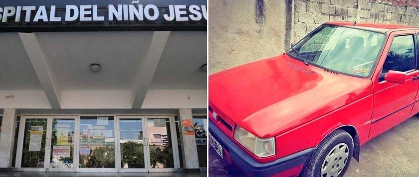 """""""¿ ZONA LIBERADA? """" : Le robaron el auto frente al hospital del Niño Jesús mientras visitaba a su hija"""