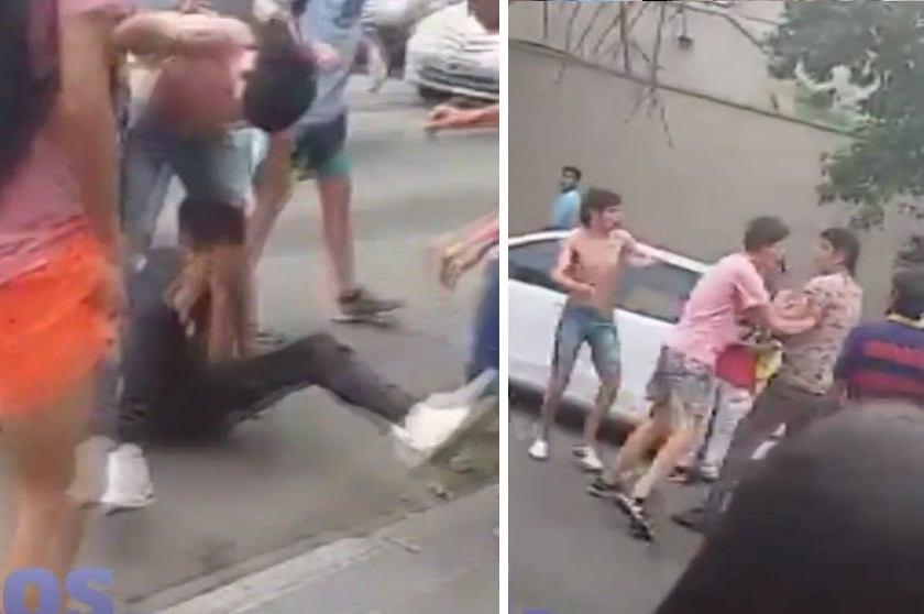 """""""En pleno barrio norte"""": Se enfrentan en violentas peleas vándalos de colegios secundarios"""