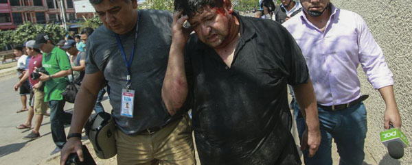 """"""" Bolivia, Golpe de Estado y Dictadura a pleno """": El gobierno auto proclamado manda a agredir y amenazar a la prensa"""
