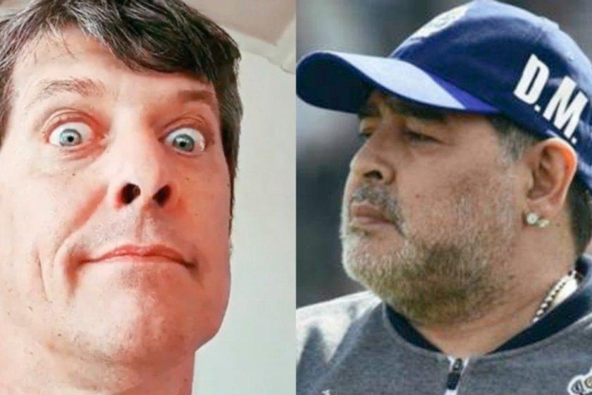 Pergolini catalogo de burro a Maradona
