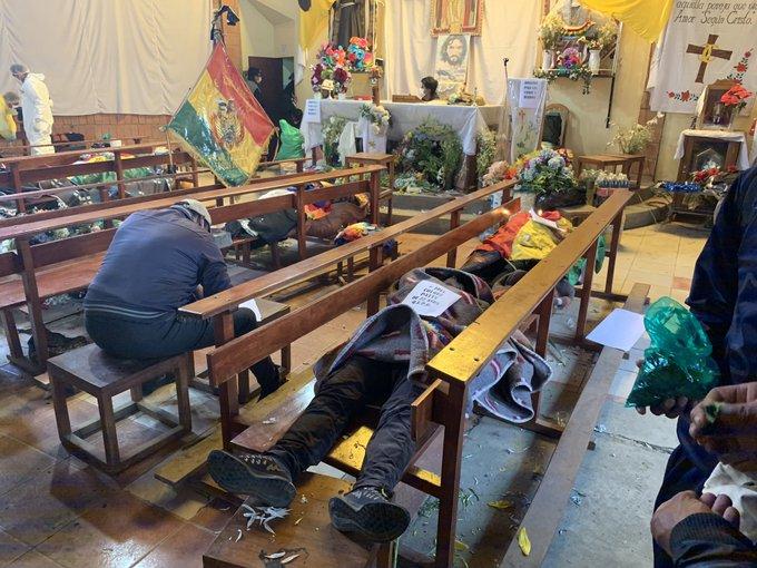 BOLIVIA: Senkata marcha a La Paz cargando los cuerpos de sus 8 muertos