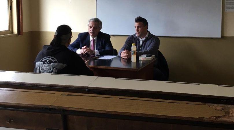El presidente Alberto Fernández fue a la Facultad de Derecho a tomar examen