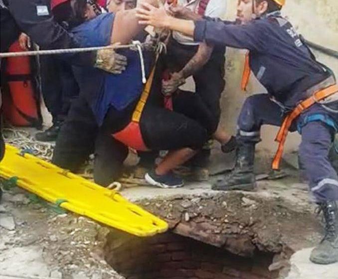 Una joven se cayó a un pozo de 10 metros de profundidad en San Pablo