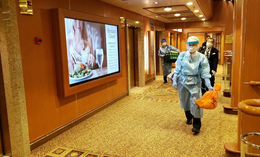 Un argentino, con coronavirus en el crucero varado en Japón
