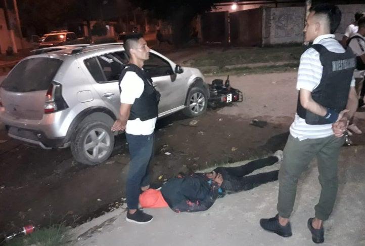 Tras un tiroteo con la policia, dos asaltantes fueron capturados