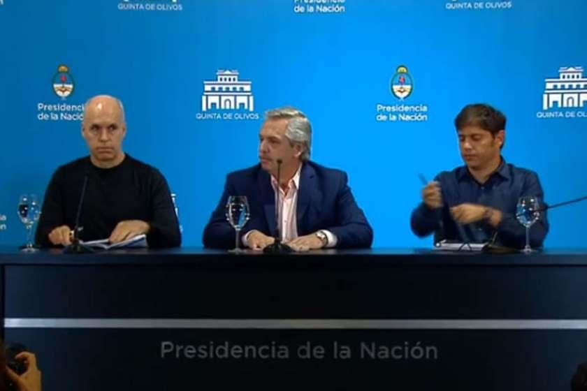 El presidente Alberto Fernández confirmó que se suspenden las clases y se cierran las fronteras hasta el 31 de marzo