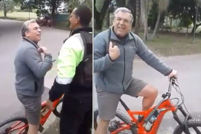 Un medico violó la cuarentena y se defendió de forma cobarde, soberbia y prepotente en Yerba Buena(VIDEO)
