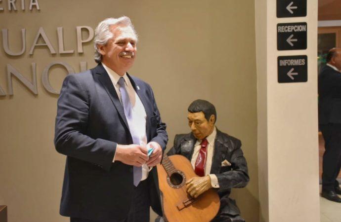 El presidente Alberto Fernández pasara la noche en la hostería Atahualpa Yupanqui