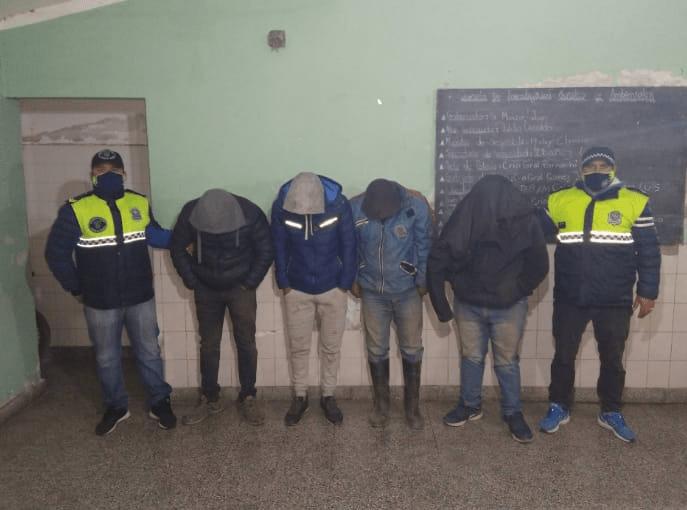 Cuatreros en Simoca: Los atraparon in fraganti cuando se llevaban más de 350 kilos de carne y una vaca viva