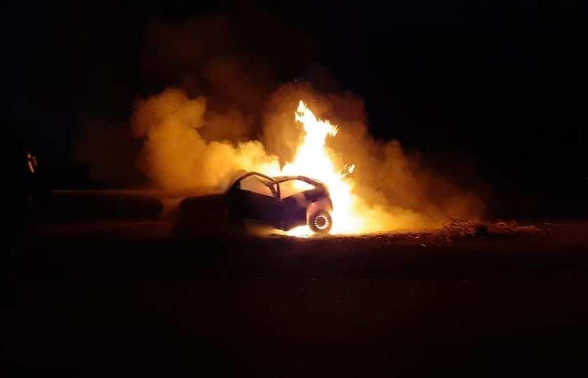"""Mueren calcinados cuatro jóvenes en un trágico accidente  """" por falta de señalizacion """" en la nueva traza de la Ruta 38"""