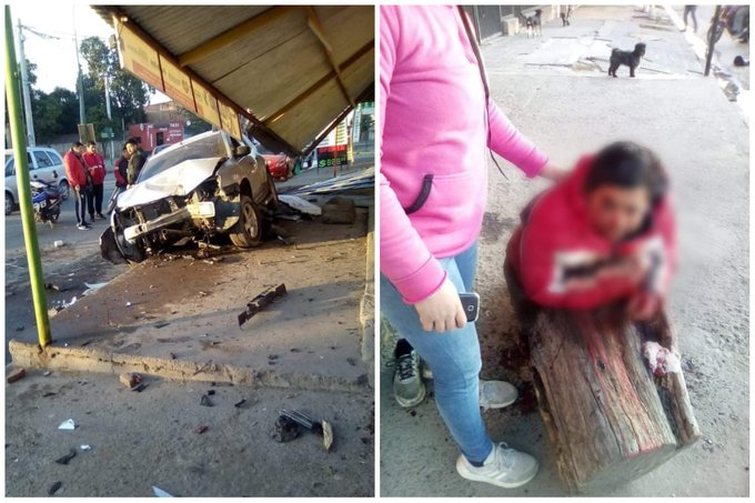 """EL COLMENAR: Embistió a un motociclista que terminó """"volando por los aires"""" (VIDEO)"""