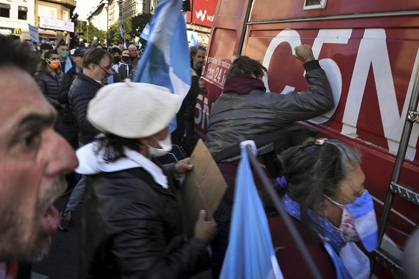 Marcha del PRO: Odio y violencia contra periodistas (VIDEO)