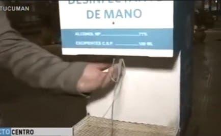 A falta de cámaras que los identifiquen vandalizan los sanitizantes de manos del microcentro