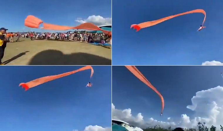 DRAMATICO: Una niña se enganchó en un barrilete y salió volando (VIDEO)