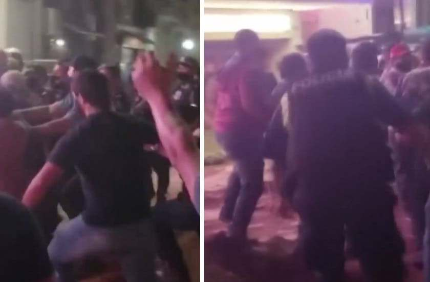 Hay tres policías heridos tras violento enfrentamiento con ruralistas frente a la Casa de Gobierno