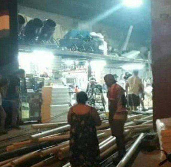 Concepción: Se produjo un accidente en un corralón de ventas de materiales, hay personas atrapadas