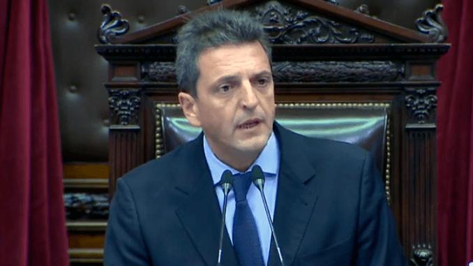 Massa fue reelegido como presidente de la Cámara de Diputados