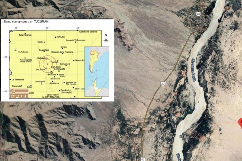Un sismo se produjo en Colalao del Valle