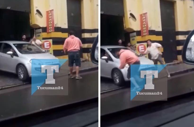(VIDEO)Tucuman: Violenta pelea en un estacionamiento en pleno centro(VIDEO)