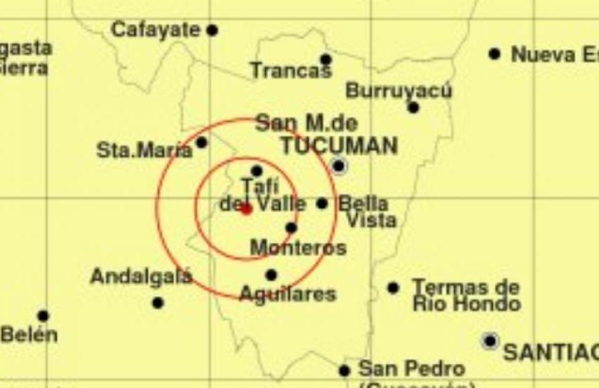 TUCUMAN: Se produjo un sismo de grado 4 a las 22:22hs