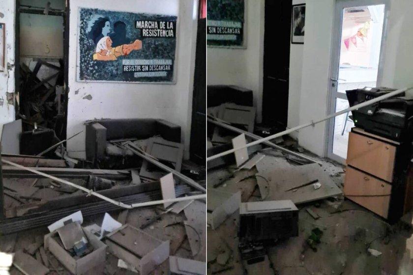ATENTADO: Destrozaron con una bomba un local del Frente de Todos en Bahía Blanca