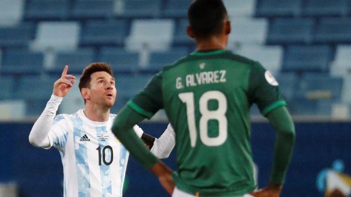 Argentina le gano 4-1 a Bolivia