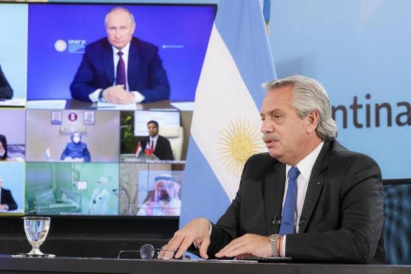 Alberto Fernández y Vladimir Putin pusieron en marcha la producción en Argentina de la vacuna Sputnik V