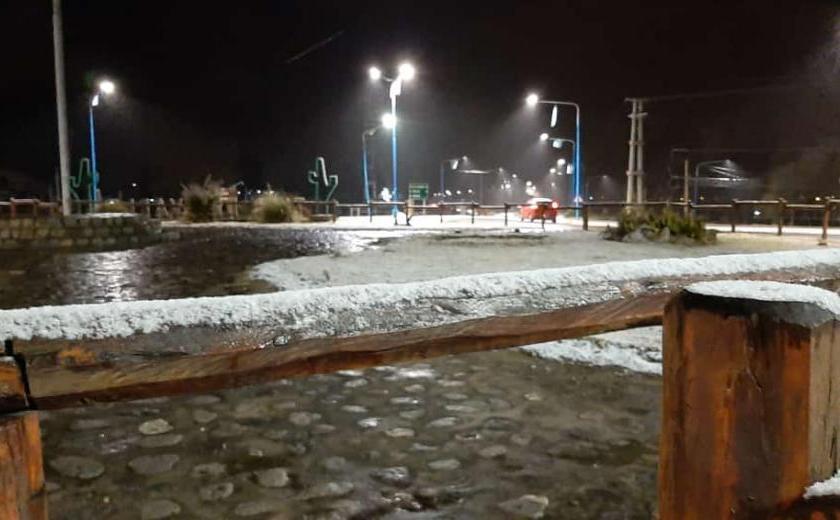 Volvio a nevar en Tafí del Valle