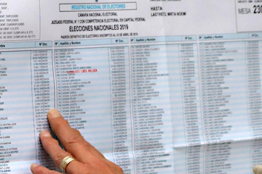 Ya podes consultar el padrón y saber donde votas