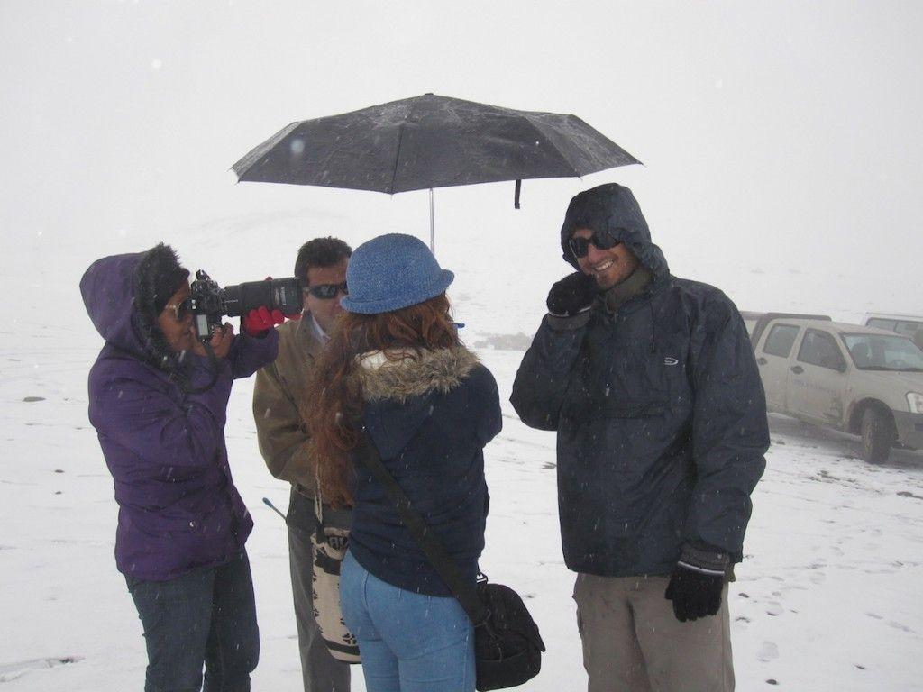 Entrevista en el Nevado del Ruiz