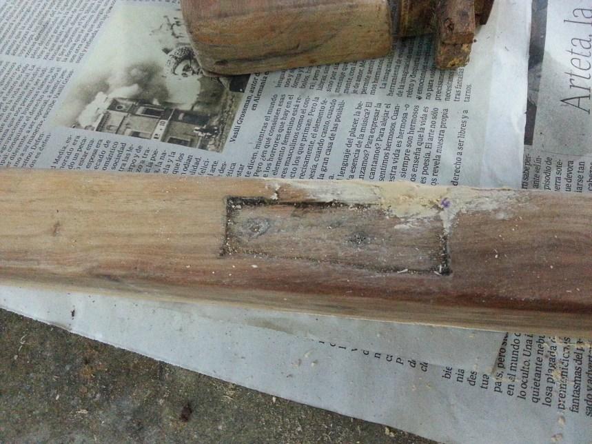 Restauracón butacas de madera