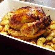 pittige kip uit de oven