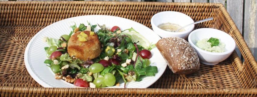 salade van geitenkaas en limoncello