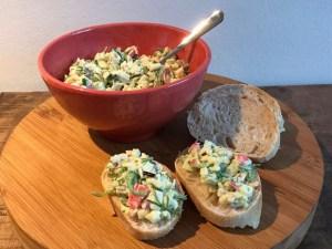 krab zeewier salade