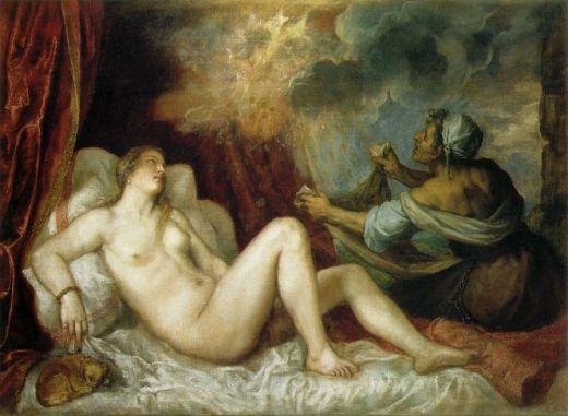 Dànae i la pluja d'or, Tiziano