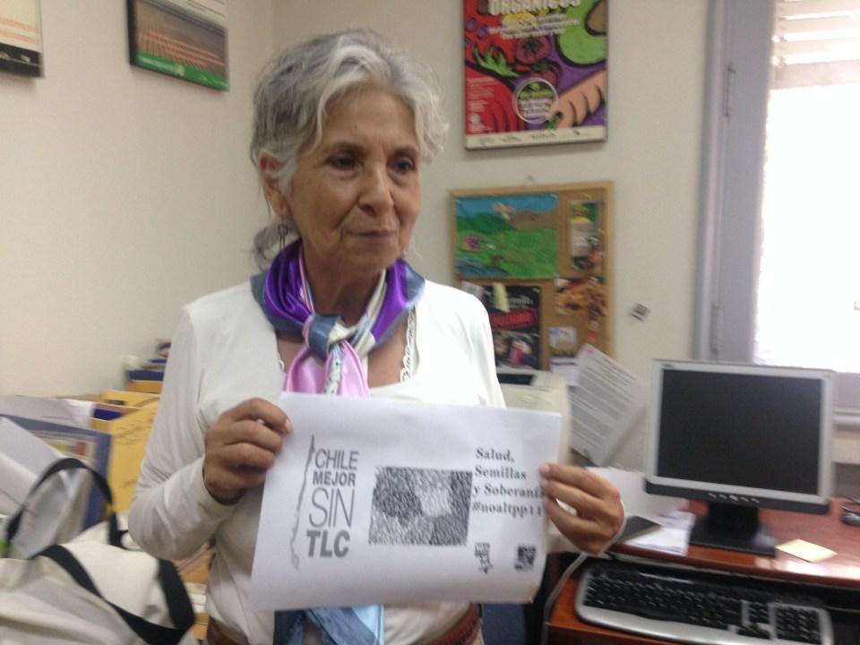 Lucía Sepulveda, de No Más TLC