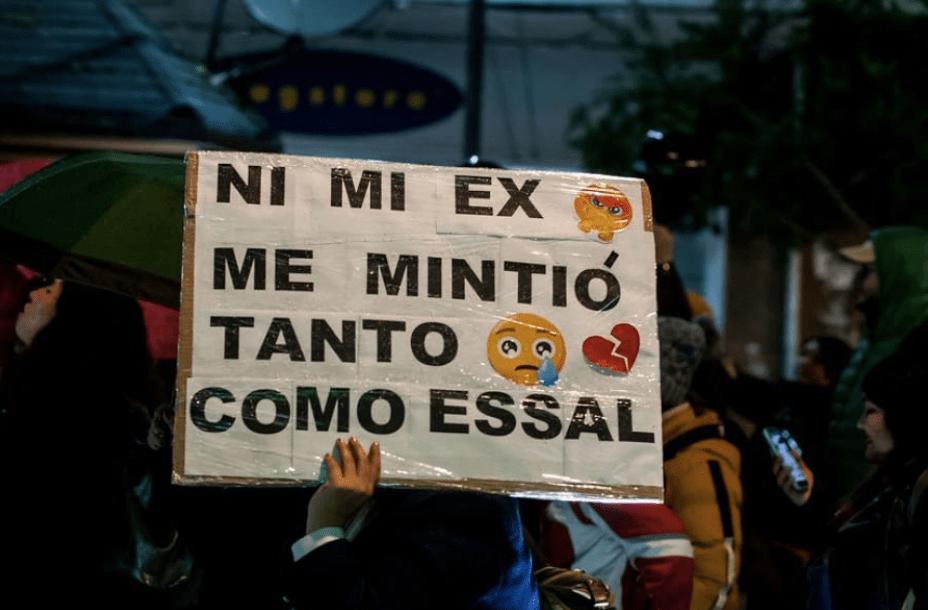 Comunidad de Osorno protesta contra Essal