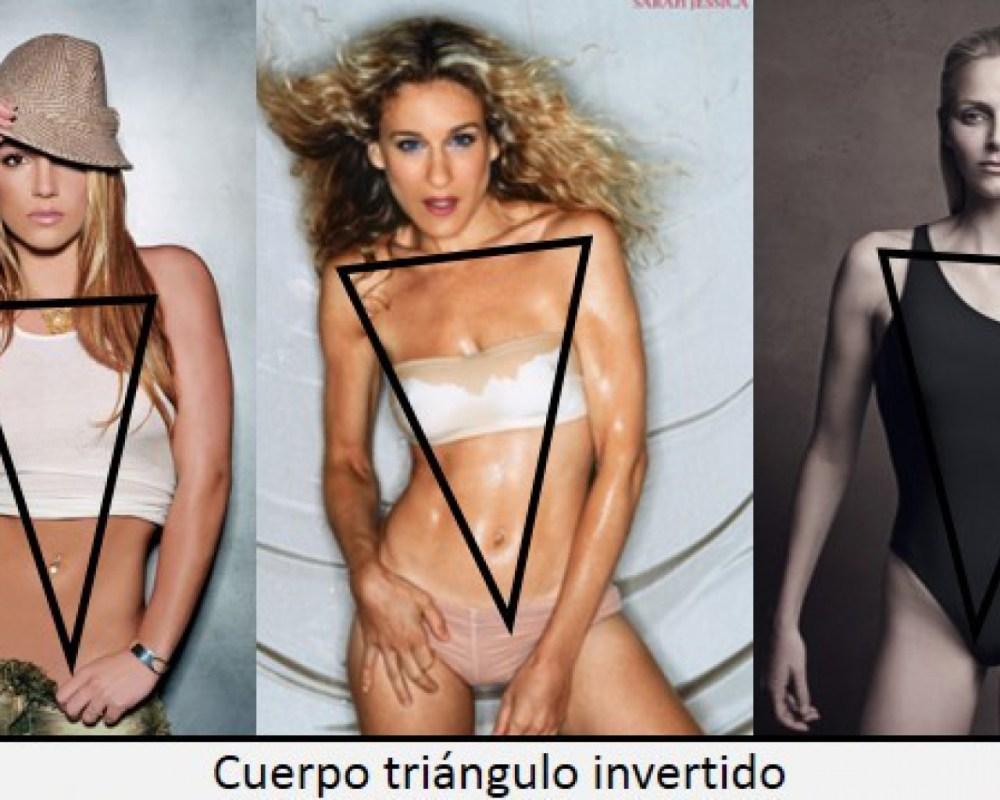 Resultado de imagen de TIPOS DE CUERPO MUJER triangulo invertido
