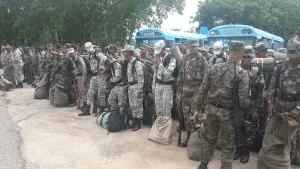 Militares frontera con Haití